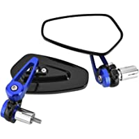 Universal Rearview Mirrors, Side Rearview Mirrors, Bar End Rearview Mirrors Aluminum Alloy for Riding for Motorcycle