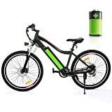 "Speedrid Electric Mountain Bike 26"" with Large Capacity 36V 12Ah Removable Lithium Battery, Electric City Bike 250W Motor with Aluminum Alloy Frame and Shimano 21-speed Gear"