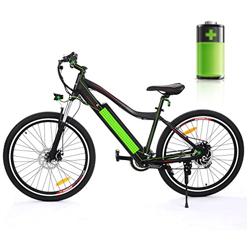 Electric Mountain City Bike with Large Capacity 36V 12Ah Removable Lithium Battery, E-bike with Aluminum Alloy Frame and Shimano 21-speed Gear for Work or School by Sheepfun