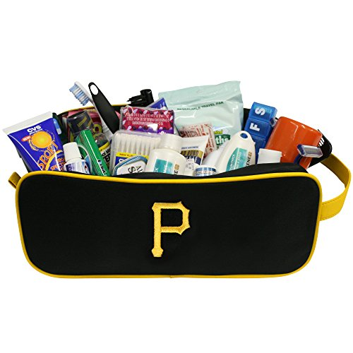 (Charm14 MLB Pittsburgh Pirates Travel Case with Embroidered Logo)