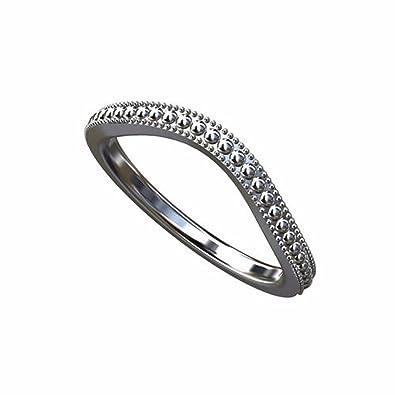 Amazon Com Platinum Milgrain Curved Wedding Band 2mm Wide P P