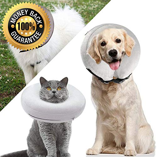 Protective Inflatable Collar Dogs Cats Soft Pet Recovery Collar Does Not Block Vision E-Collar