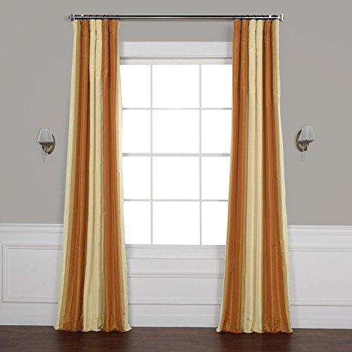 - Pts-SLK42012-108 Luxury Faux Silk Stripe Curtain, 50 x 108, Dorset