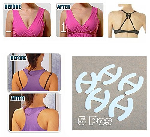 5 Clips Hide Converter Bra Strap Clips Cleavage Control Webbing Bra Straps PTCT Hot Sale Women Gifts