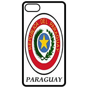 Paraguay - Coat Of Arms Flag Emblem Black Apple Iphone 5 Cell Phone Case - Cover