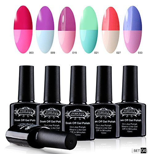 Perfect Summer Thermal Colors Change Mood Chaning Gel Nail P