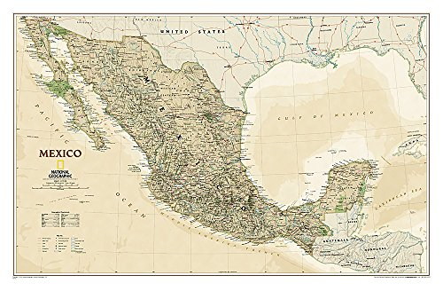 National Geographic: Mexico Executive Wall Map (34.5 x 22.75 inches) (National Geographic...