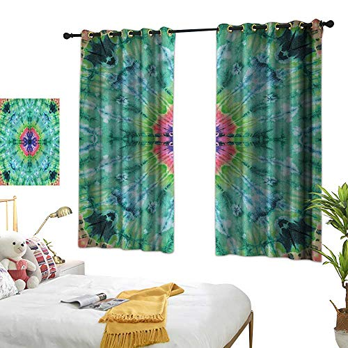 (G Idle Sky Thermal Insulating Blackout Curtain Marble Printing Insulation Ombre Art Pink Indigo 72