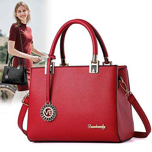 bolsos XWAN moda Un sencillo Deep señoras Red Purple nuevo Diagonal A bolsos de y dX6Xrw0Axq