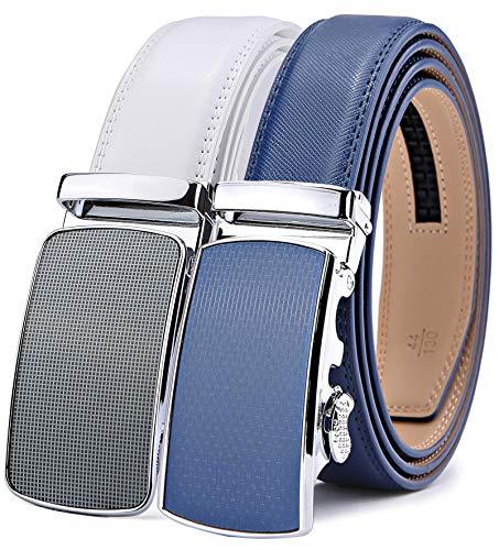 Leather Comfort Slides - Men's Belt,Bulliant Slide Ratchet Belt for Men with Genuine Leather 1 3/8,Trim to Fit