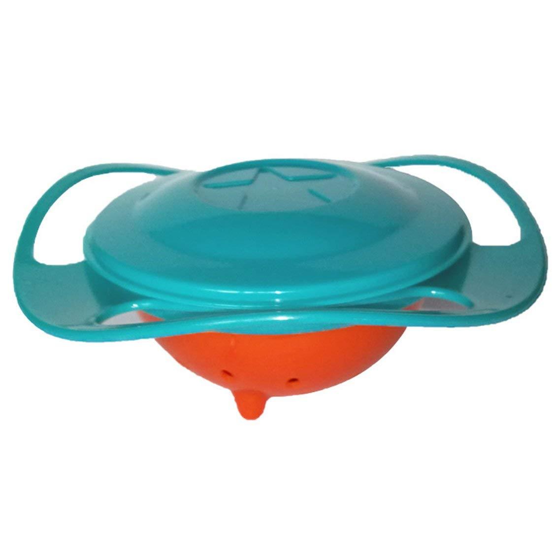 Juguete de alimentaci/ón para beb/és Tazones Platos Rotate 360 Tecnolog/ía Regalo divertido Accesorios para beb/és Aprendizaje para beb/és Entrenamiento Vajilla Seguro y protegido