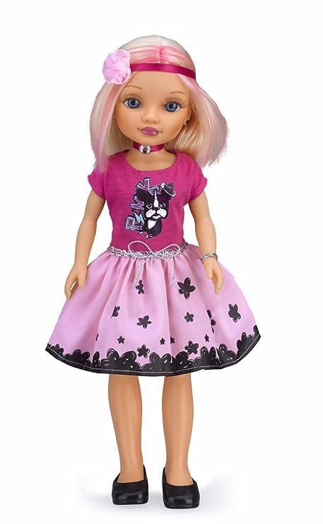 4697e54b5f Nancy - Muñeca Pinktone Rubia con Camiseta Rosa Oscura y Falda Clara  (Famosa 700012076)