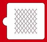 Designer Stencils C239 Lattice Cake Stencil, Beige/semi-transparent