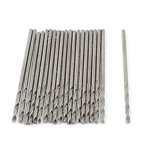 uxcell 20pcs 1mm Twisted Drilling Bit Tip for Electric ()