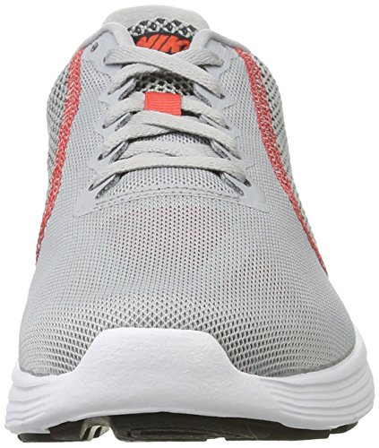 Nike Revolution 3 Zapatillas de running, Hombre Gris (Wolf Grey/trck Rd-black-white)