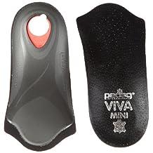 Pedag Viva Mini Orthotic with Semi-Rigid Arch Support, Metatarsal & Heel Pad, Leather, Black, US W12/M9/EU42