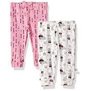 Rosie Pope Baby Girls 2 Pack Pants (More Options Available), Geo/White Bunny, 0-3 Months