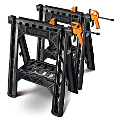 WORX Clamping Sawhorse Pair with Bar Cla...