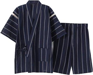 Traje de Pijama Kimono de Estilo japonés para Hombre [K]