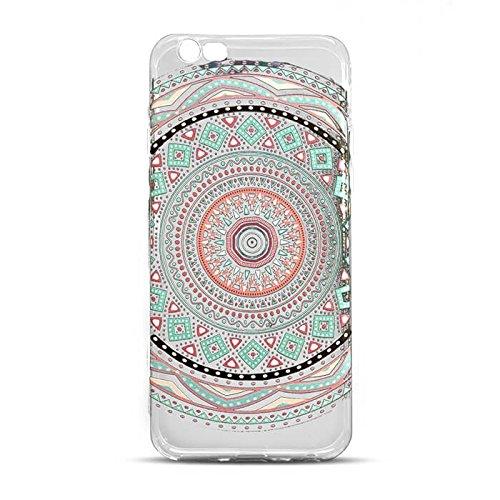 "Hülle MANDALA 1 für Apple iPhone 7 4,7"" Silikonhülle Case Cover Handy Tasche TPU Silikon Hülle"