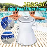 Vwlvrsco Swimming Pool Filter Pump with Filter for