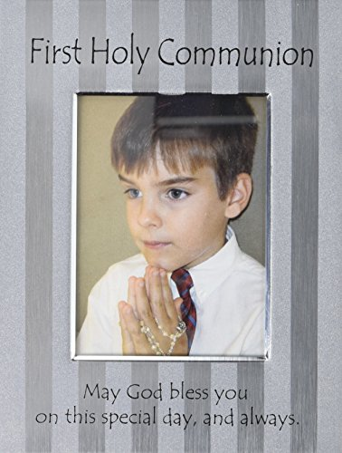 Cathedral Art MF239 First Holy Communion Screened Metal Picture Frame, 6 by 8-Inch -