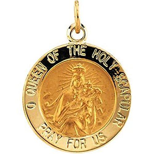 14K Yellow Gold Scapular Medal (Gold 14k Scapular Yellow Medal)