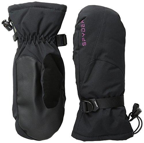 Spyder women's Traverse Gore-Tex Mittens, Large, Black/Wild