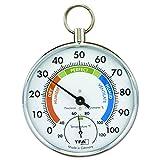 La Crosse Technology 45.2027 Chromed Pocket Watch Designed Thermo-Hygrometer