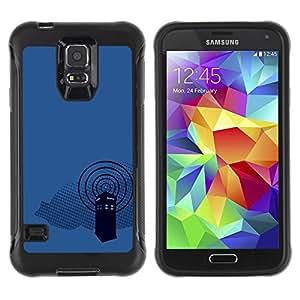 ZAKO CASES / Samsung Galaxy S5 SM-G900 / Dr Wh0 Telephone Booth / Robusto Prueba de choques Caso Billetera cubierta Shell Armor Funda Case Cover Slim Armor