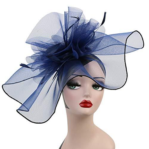 LATIMOON Derby Headband Wedding Hats Fascinators Tea Party Headwear Hair  Clip Head Hoop for Women and 724b6b31b432