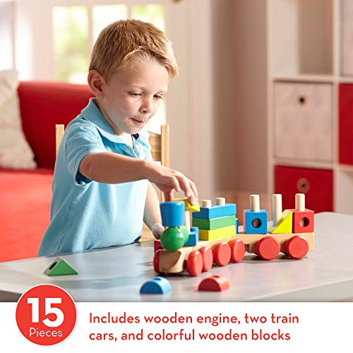 51OlIH9FxoL - Melissa & Doug Stacking Train (Classic Wooden Toddler Toy, 18 Pieces, Great Gift for Girls and Boys - Best for 2, 3, and 4 Year Olds)