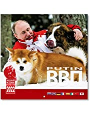Vladimir Putin Wall Calendar for 2022, size: 11.8 x11.8 inches (30×30cm), 8 languages (English, Japanese, Russian, etc.)
