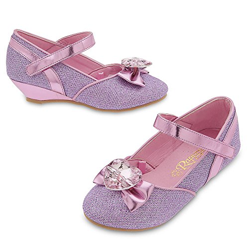[Disney Rapunzel Costume Shoes for Kids Size 11/12 YTH Purple] (Costumes Shoes For Kids)
