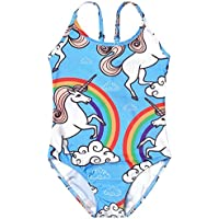 Girls Bathing Suits for Kids Unicorn Gymnastics Leotard Swimsuits One/Two Piece