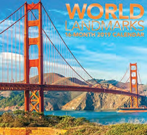 - 16 Month Wall Calendar 2019 World Landmarks. Each Month Displays Full-Color Photograph. September 2018 - December 2019 Planning Calendar
