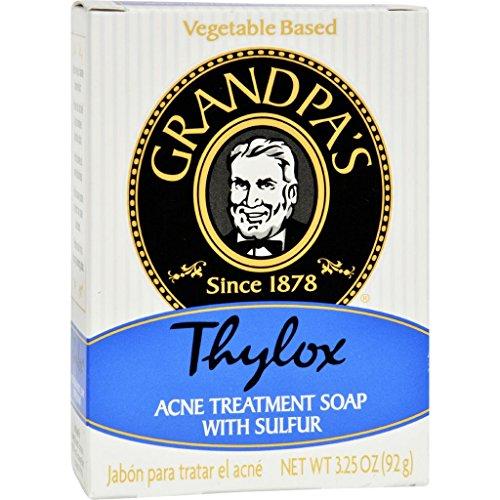 dolly2u Grandpa's Thylox Acne Treatment Bar Soap with Sulfur - 3.25 oz