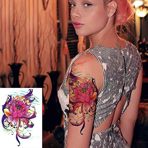 ljmljm 5pcs Tatuaje Impermeable Etiqueta Totem Línea de Gran ...