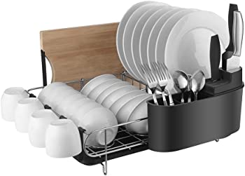Homelody 2 Tier Dish Rack with Drainboard