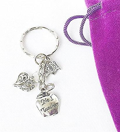 Llavero con colgantes de plata tibetana para mujer. Regalo ...