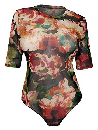 eVogues Plus Size Lace Bodysuit