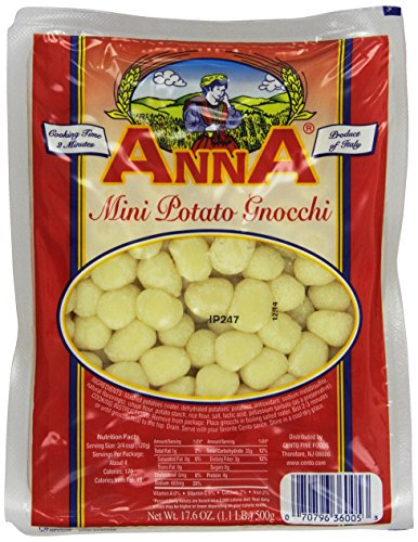 Anna Mini Potato Gnocchi, 17.6 Ounce Bags (Pack of 12) (Free Sugar Mini)
