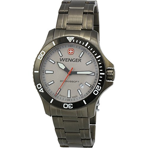 Wenger Swiss Army Sea Force Grey Dial Gunmetal Men's Watch 01.0641.115