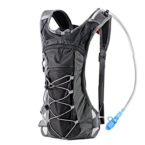 Hydration Pack Backpack with 70 oz 2L Water Bladder for Running, Hiking, Cycling, Climbing, Camping, Biking (Fox Race Frame)
