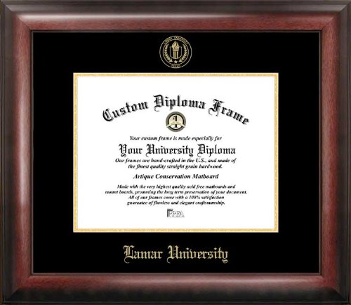 Campus Images Lamar University Gold Embossed Diploma Frame from Campus Images