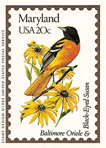 Vintage Maryland Souvenir Yellow Glass Mug Baltimore Oriole Bird /& Black Eyed Susan Red Flowers Wood Handle