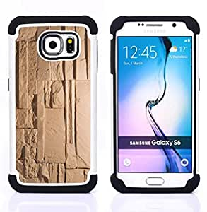 For Samsung Galaxy S6 G9200 - pyramid ancient beige pattern Dual Layer caso de Shell HUELGA Impacto pata de cabra con im??genes gr??ficas Steam - Funny Shop -