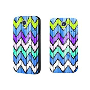 Colorful Wood Grain Chevron Pattern Phone Case Cover for Samsung Galaxy S4 9500 Personalized Phone Case Skin