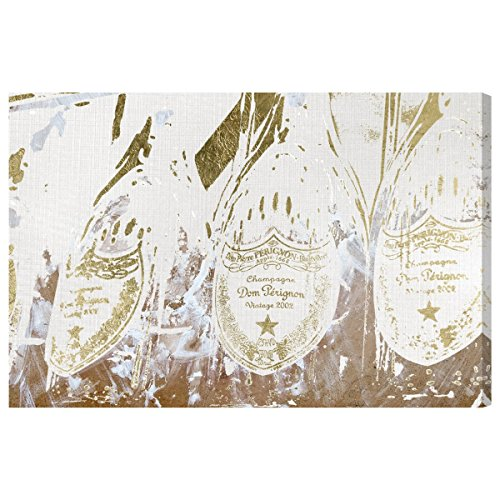 The Oliver Gal Artist Co. Drinks and Spirits Wall Art Canvas Prints 'Champagne Showers' Home Décor, 45