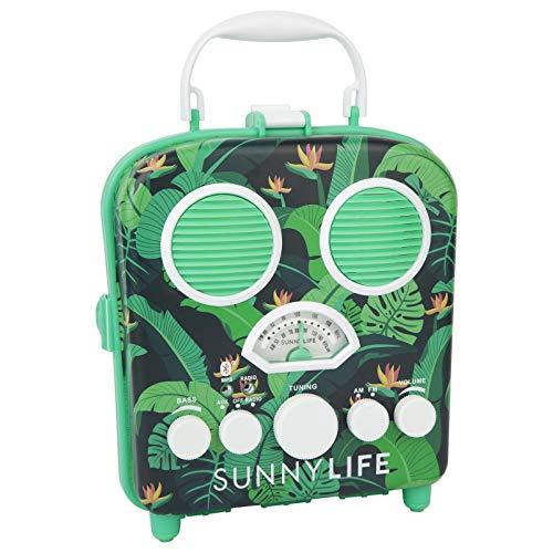 Sunnylife Portable Beach MP3 Speaker with AM/FM Radio and Smartphone Holder
